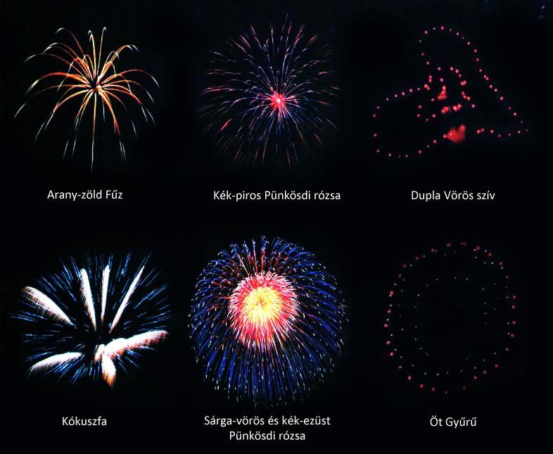 Tűzijáték effektek